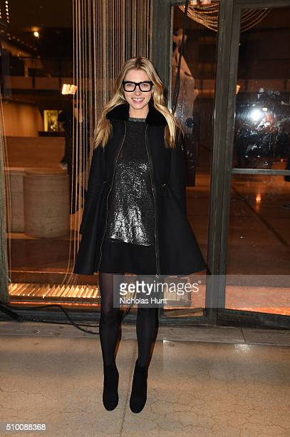 Model Jessica Hart attends the Moncler Grenoble FW 1617 presentation during New York Fashion Week at Lincoln Center on February 13 2016 in New York...