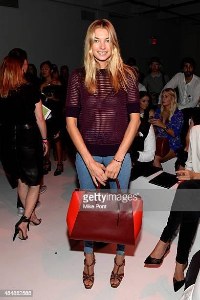 Model Jessica Hart walks the runway at the Porsche Design Spring/Summer 2015 fashion show during MercedesBenz Fashion Week Spring 2015 at Center548...