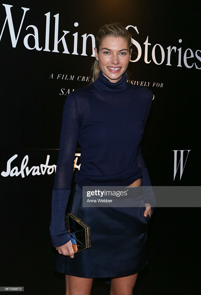 Model Jessica Hart wears Ferragamo Fall/Winter Collection during Ferragamo And Stefano Tonchi Present A VIP Screening Of Premier Film Walking Stories on November 6, 2013 in New York City.
