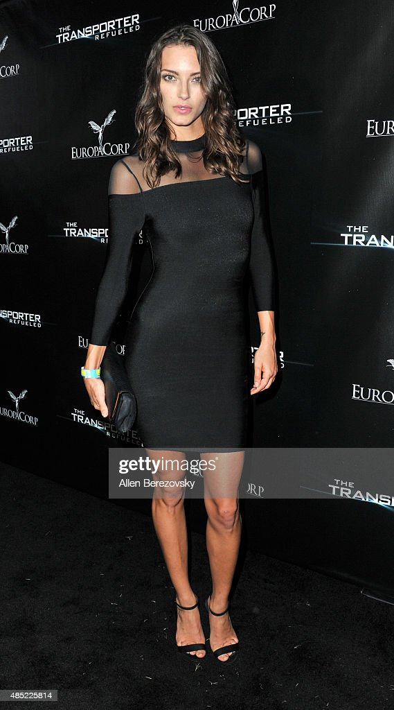 Model Jessica Marie attends a special screening and after-party for EuropaCorp's 'The Transporter Refueled' held at The Playboy Mansion on August 25, 2015 in Los Angeles, California.