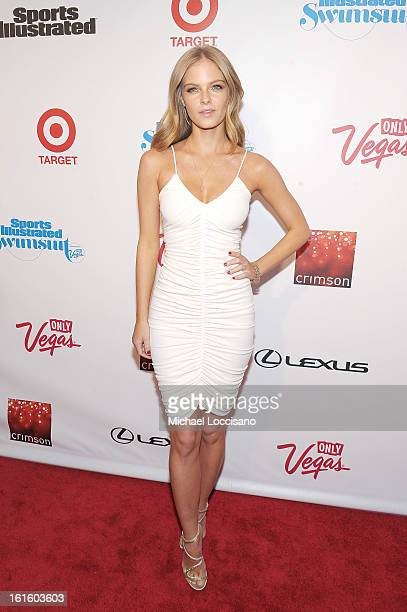 Model Jessica Perez attends as Sports Illustrated celebrates SI Swimsuit 2013 with a starstudded red carpet kickoff event at Crimson on February 12...