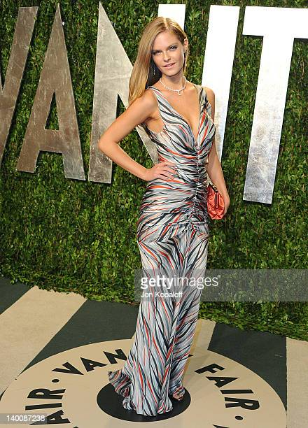 Model Jessica Perez attends the 2012 Vanity Fair Oscar Party at Sunset Tower on February 26 2012 in West Hollywood California