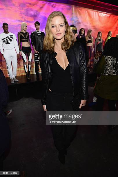 Model Jessica Perez attends the Brian Lichtenberg fashion show at The Hub at The Hudson Hotel on February 9 2014 in New York City