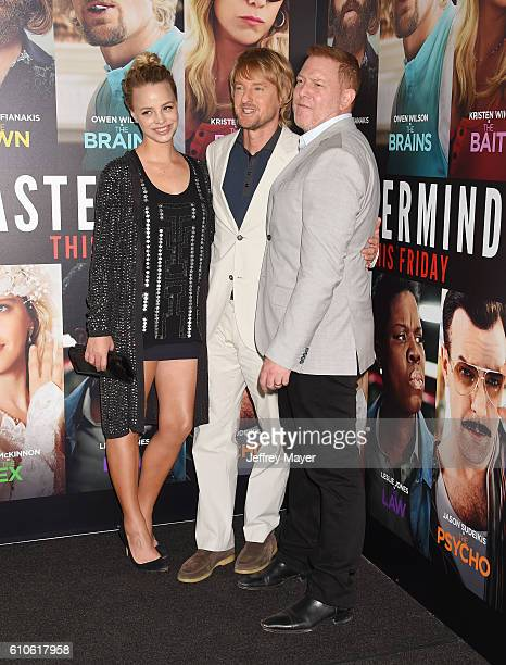 Model Jessica Roffey actor Owen Wilson and Relativity Media CEO Ryan Kavanaugh attend the premiere of Relativity Media's 'Masterminds' held at TCL...