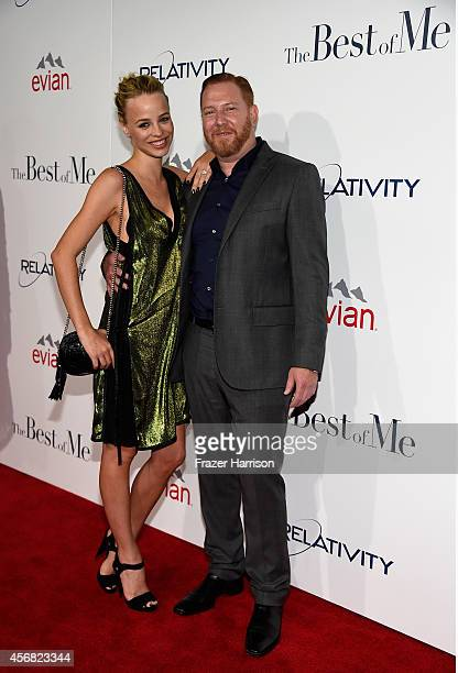 Model Jessica Roffey and CEO of Relativity Media Ryan Kavanaugh attend the premiere of Relativity Studios' The Best Of Me at Regal Cinemas LA Live on...