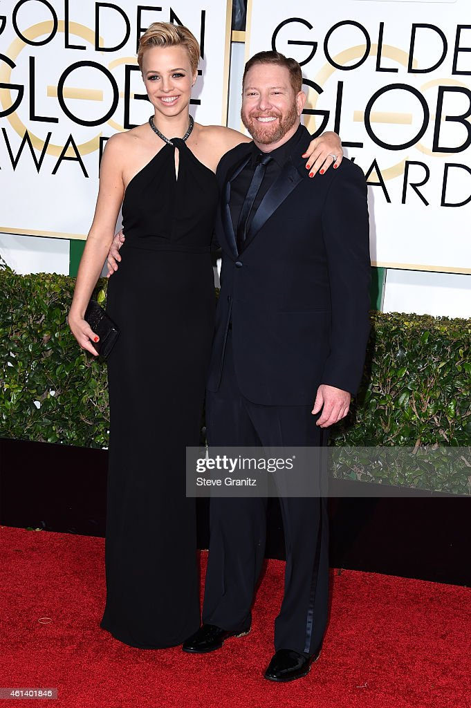 Model Jessica Roffey and film producer Ryan Kavanaugh (R) attend the 72nd Annual Golden Globe Awards at The Beverly Hilton Hotel on January 11, 2015 in Beverly Hills, California.