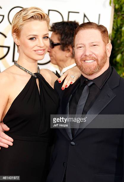 Model Jessica Roffey and film producer Ryan Kavanaugh attend the 72nd Annual Golden Globe Awards at The Beverly Hilton Hotel on January 11 2015 in...