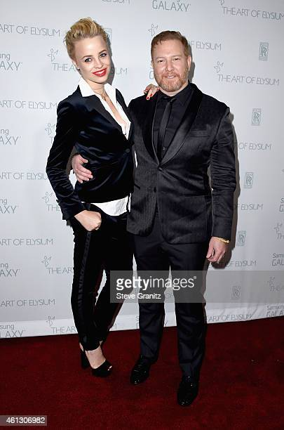 Model Jessica Roffey and founder and CEO of Relativity Media Ryan Kavanaugh attend The Art of Elysium 8th Annual Heaven Gala at Hangar 8 on January...