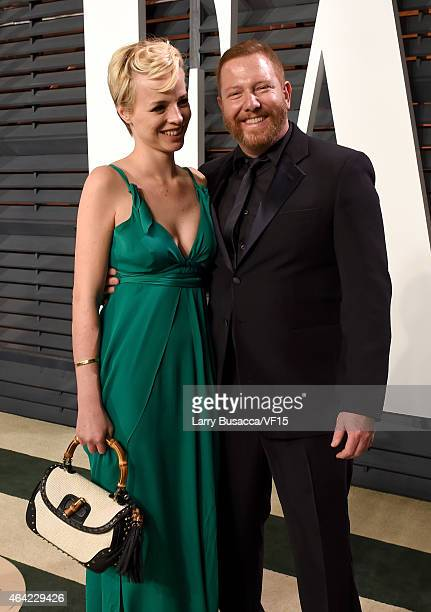 Model Jessica Roffey and producer Ryan Kavanaugh attend the 2015 Vanity Fair Oscar Party hosted by Graydon Carter at the Wallis Annenberg Center for...