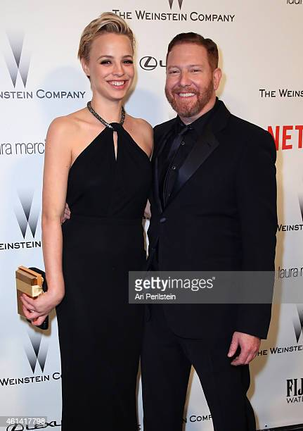 Model Jessica Roffey and producer Ryan Kavanaugh attend The Weinstein Company Netflix's 2015 Golden Globes After Party presented by FIJI Water Lexus...