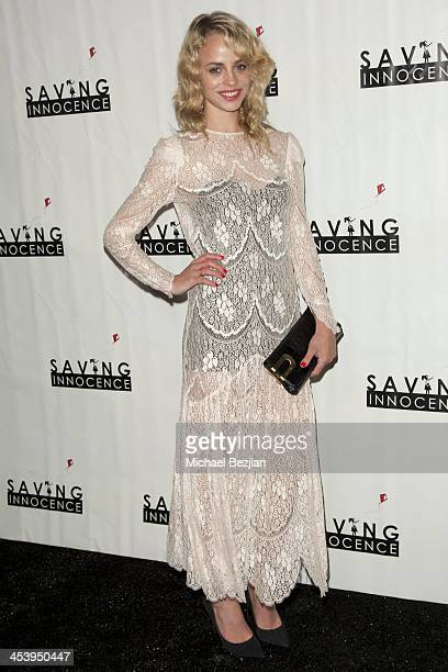 Model Jessica Roffey arrives at the 2nd Annual Saving Innocence Gala Hosted By Kellan Lutz And Keke Palmer Arrivals at The Crossing on December 5...