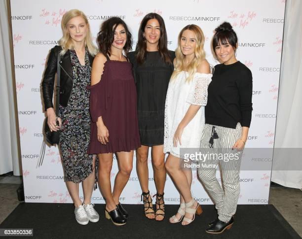Model Jessica Stam actress Jessica Szohr designer Rebecca Minkoff Tv personality Lauren Conrad and actress Emmanuelle Chriqui attended designer...