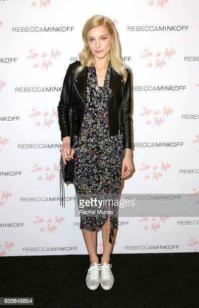 """Model Jessica Stam attended designer Rebecca Minkoff's Spring 2017 """"See Now Buy Now"""" Fashion Show at The Grove on February 4 2017 in Los Angeles..."""