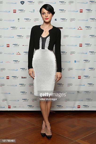 Model Jessica Stam attends Cantor Fitzgerald BGC Partners host annual charity day on 9/11 to benefit over 100 charities worldwide at Cantor...