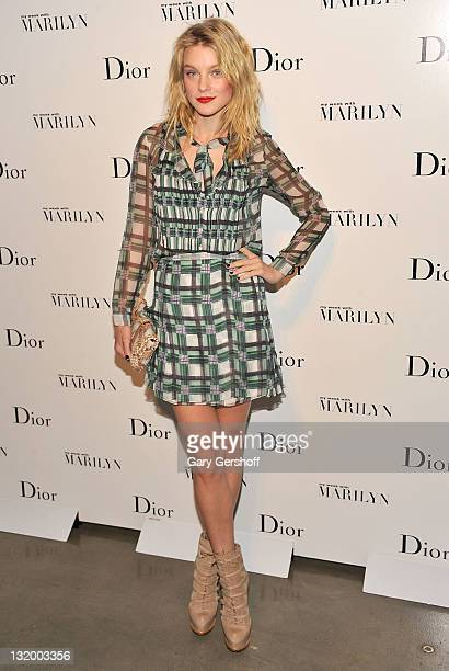 Model Jessica Stam attends Dior and The Weinstein Company's Opening Of 'Picturing Marilyn' at Milk Gallery on November 9 2011 in New York City