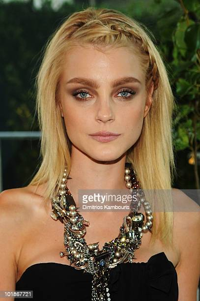 Model Jessica Stam attends the 2010 CFDA Fashion Awards at Alice Tully Hall Lincoln Center on June 7 2010 in New York City