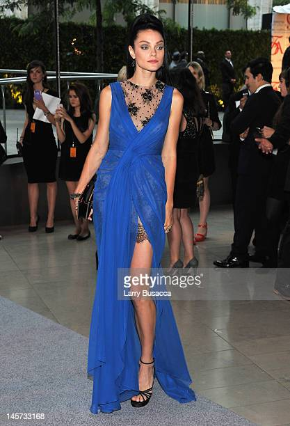 Model Jessica Stam attends the 2012 CFDA Fashion Awards at Alice Tully Hall on June 4 2012 in New York City