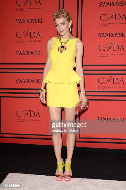 Model Jessica Stam attends the 2013 CFDA Fashion Awardson June 3 2013 in New York United States
