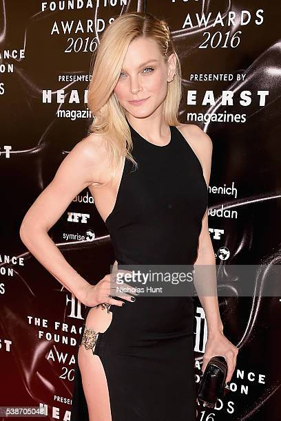 Model Jessica Stam attends the 2016 Fragrance Foundation Awards presented by Hearst Magazines on June 7 2016 in New York City