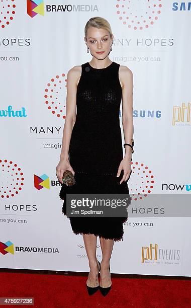 Model Jessica Stam attends the 4th Annual Discover Many Hopes Gala at The Angel Orensanz Foundation on June 4 2015 in New York City