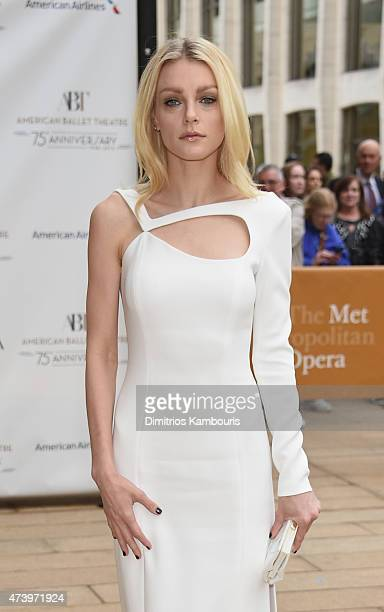 Model Jessica Stam attends the American Ballet Theatre's 75th Anniversary Diamond Jubilee Spring Gala at The Metropolitan Opera House on May 18 2015...