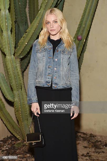 Model Jessica Stam attends the August Getty Atelier SS 2016 'The Thread Of Man' Presentation With David LaChapelle at Universal Studios Hollywood on...