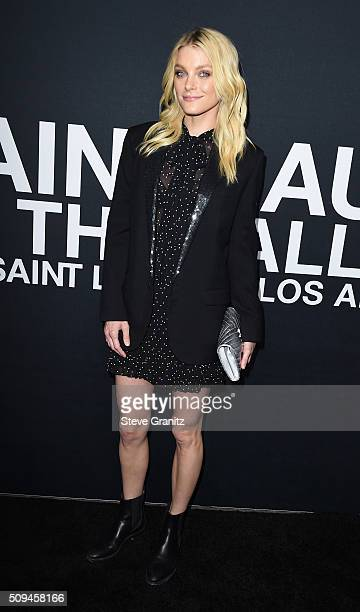 Model Jessica Stam attends the Saint Laurent show at The Hollywood Palladium on February 10 2016 in Los Angeles California