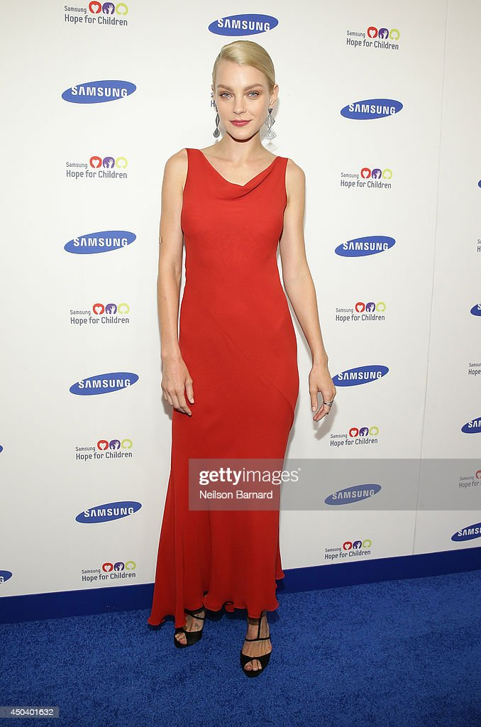 Model Jessica Stam attends the Samsung Hope For Children Gala 2014 on June 10, 2014 in New York City.