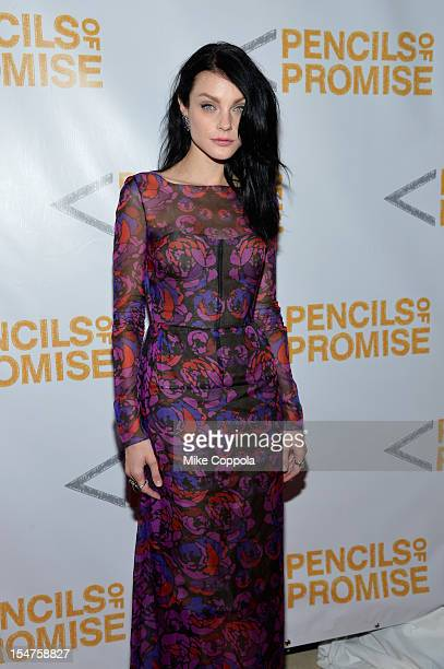 Model Jessica Stam attends the second annual Pencils of Promise Gala at Guastavino's on October 25 2012 in New York City