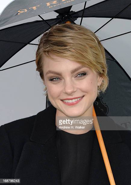Model Jessica Stam attends the Sentebale Royal Salute Polo Cup during the sixth day of HRH Prince Harry's visit to the United States at Greenwich...