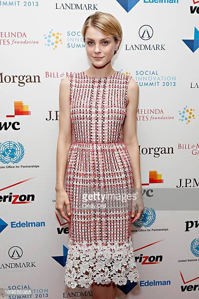 Model Jessica Stam attends the Social Innovation Summit May 2013 Day Two on May 30 2013 in New York City