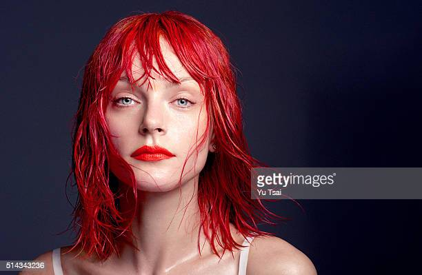 Model Jessica Stam is photographed for a beauty hair and fashion editorial for Narcisse Magazine on June 11 2015 in Los Angeles CaliforniaPublished...