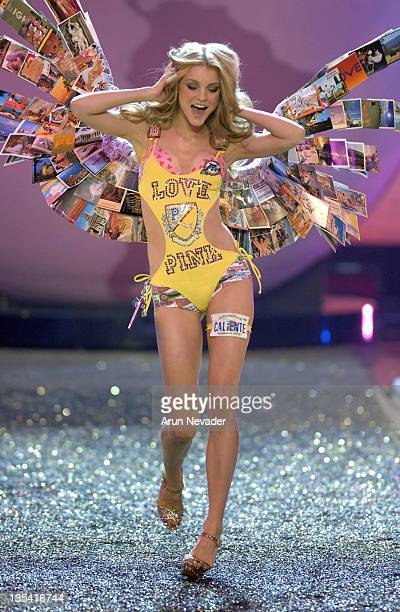 Model Jessica Stam wearing Victoria's Secret at the 12th Victoria's Secret Fashion show at the Kodak Theater on November 15 2007 in Hollywood...