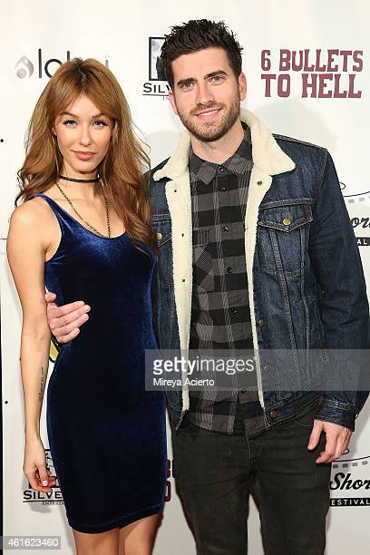 Model Jessica Vargas and actor Ryan Rottman attend 6 Bullets To Hell Los Angeles Premiere at TCL Chinese Theatre on January 15 2015 in Hollywood...