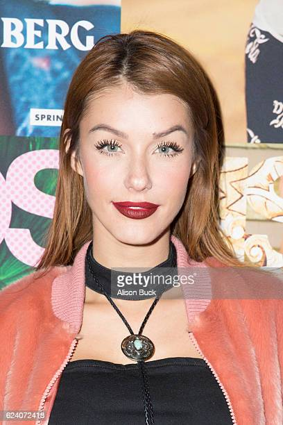 Model Jessica Vargas arrives at ASOS Launches US Edition of Magazine at The Sayers Club on November 17 2016 in Hollywood California