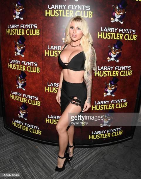 Model Jessica Weaver hosts Larry Flynt's Hustler Club Instagram party at Larry Flynt's Hustler Club on July 14 2018 in Las Vegas Nevada