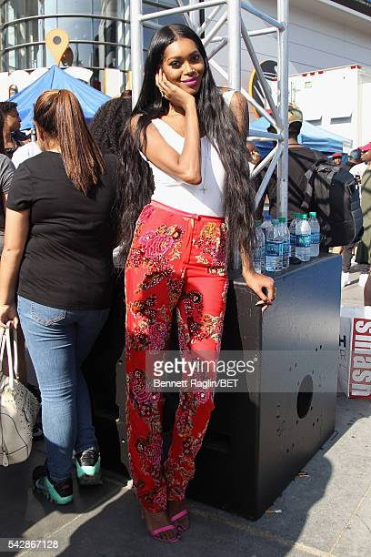 Model Jessica White attends 106 Park sponsored by Apple Music during the 2016 BET Experience at Microsoft Square on June 24 2016 in Los Angeles...