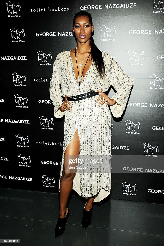 Model Jessica White attends Charity Meets Fashion Holiday Celebration Honoring The World's Children at Affirmation Arts on December 17, 2012 in New York City.
