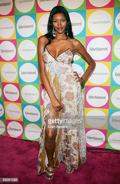 Model Jessica White attends Entertainment Weekly's The Must List party at Deep June 16 2005 in New York City