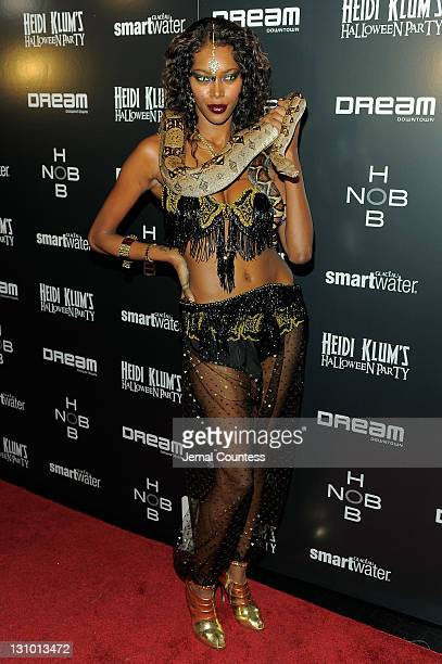Model Jessica White attends Heidi Klum's 12th annual Halloween party at the PHD Rooftop Lounge at Dream Downtown on October 31 2011 in New York City