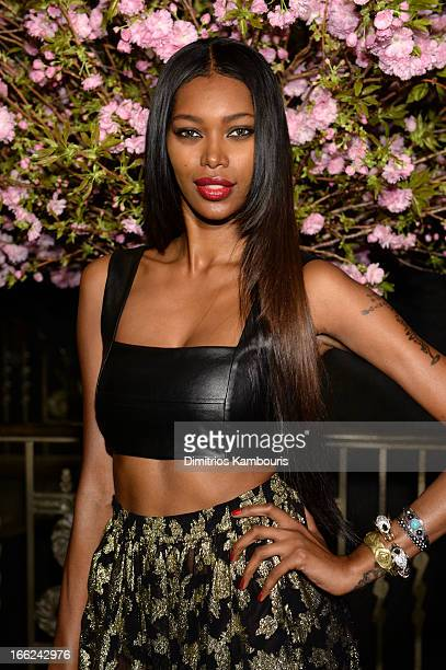 Model Jessica White attends the 4th Annual ELLE Women in Music Celebration at The Edison Ballroom on April 10 2013 in New York City