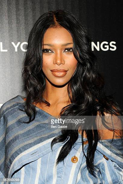 """Model Jessica White attends The Cinema Society and Johnston & Murphy host a screening of Sony Pictures Classics' """"Kill Your Darlings"""" at the Paris..."""