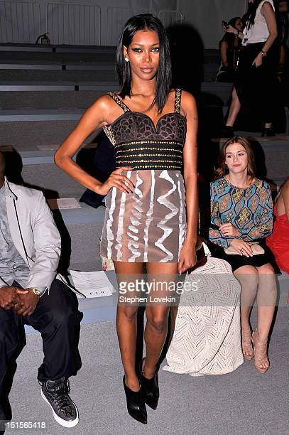 Model Jessica White attends the Mara Hoffman Spring 2013 fashion show during MercedesBenz Fashion Week at The Stage Lincoln Center on September 8...