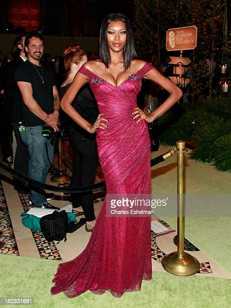 Model Jessica White attends the New Yorkers For Children 2012 Fall Gala at Cipriani 42nd Street on September 18 2012 in New York City