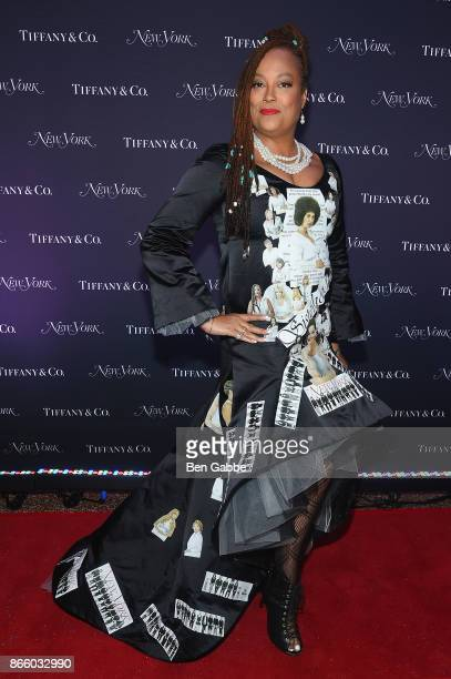 Model Jewel Allison wearing a dress featuring the New York Magazine cover depicting Bill Cosby's alleged sexual assault victims attends the New York...