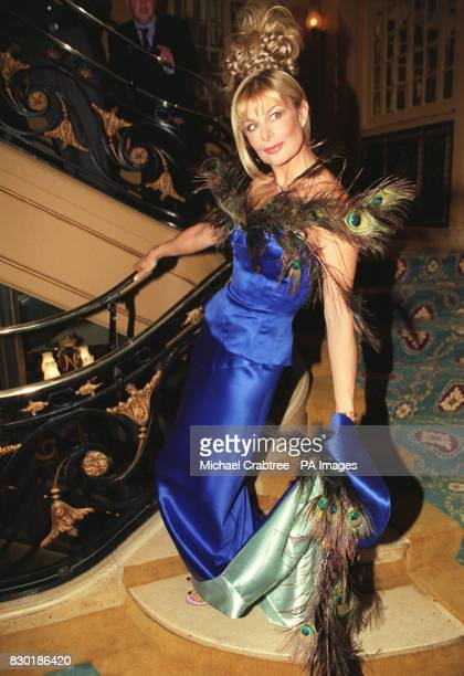 Model Jilly Johnson at a celebrity fashion show in aid of 'Children in Crisis' at the Cafe Royal in London's Regent Street