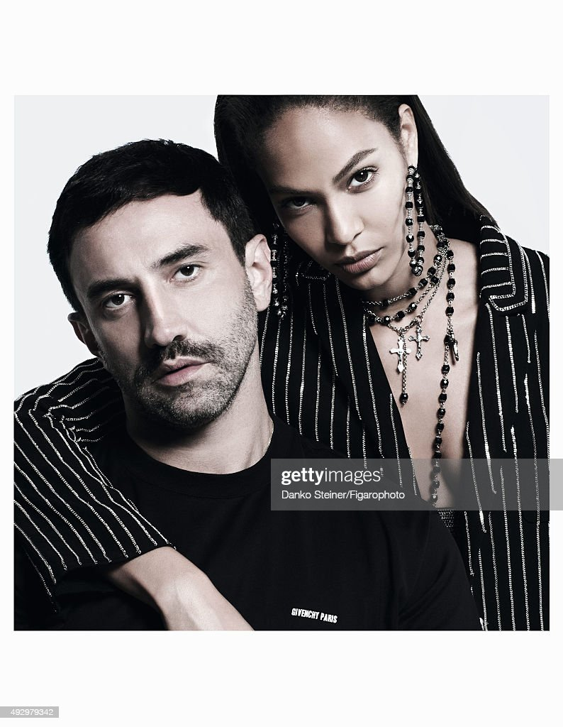 Joan Smalls and Riccardo Tisci, Madame Figaro, September 18, 2015