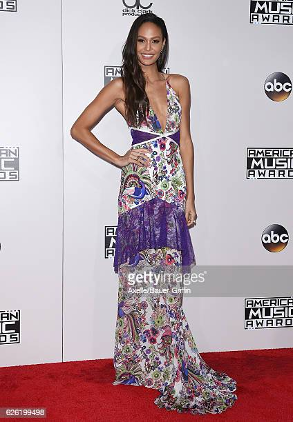 Model Joan Smalls arrives at the 2016 American Music Awards at Microsoft Theater on November 20 2016 in Los Angeles California