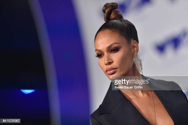 Model Joan Smalls arrives at the 2017 MTV Video Music Awards at The Forum on August 27 2017 in Inglewood California