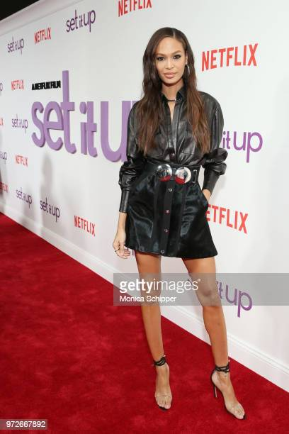 Model Joan Smalls attends a special screening of the Netflix film 'Set It Up' at AMC Lincoln Square Theater on June 12 2018 in New York City